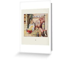 Cecily Parsley's Nursery Rhymes Beatrix Potter 1922 0012 Cecily Parsely Brewed Good Ale Greeting Card