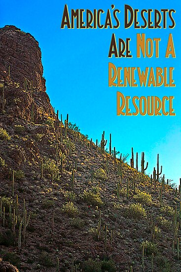 America's Deserts Are Not A Renewable Resource by Chris Clarke