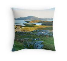 Landscape and sheep, Isle of Harris Throw Pillow
