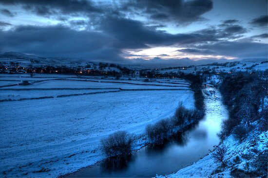 River Ure with Bainbridge  by NSQPhotography