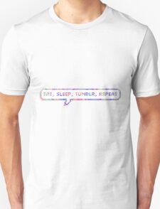 EAT SLEEP TUMBLR REPEAT Unisex T-Shirt