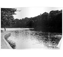 Roundhay Park Lake Jogger Poster