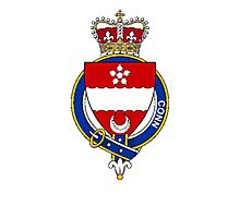 Coat of arms (family crest) for last-name or surname Conn (Scotland) . Heraldry banner for your name. Photographic Print