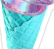 METALLIC AND BLUE ICE CREAM Sticker