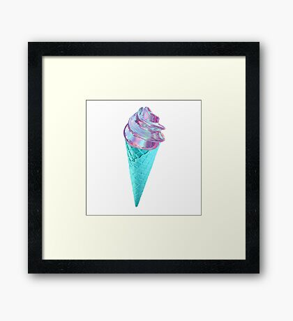 METALLIC AND BLUE ICE CREAM Framed Print
