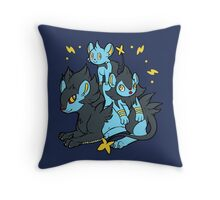 Pile of Electric Lions Throw Pillow