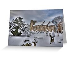 St Cuthbert's in the snow Greeting Card