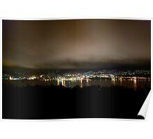 Hobart City at Night Poster
