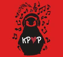 Penguin listen to kpop One Piece - Short Sleeve