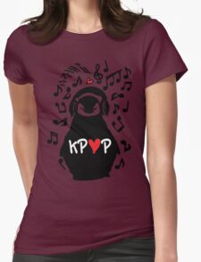 Penguin listen to kpop Womens Fitted T-Shirt