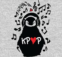 Penguin listen to kpop Women's Fitted Scoop T-Shirt