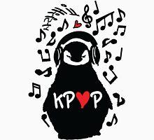 Penguin listen to kpop Women's Fitted Scoop T-Shirt