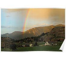 Rainbow over Estes Park Poster