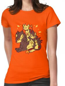 Pile of Electric Lions (Shiny Version) Womens Fitted T-Shirt