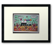 Mia personalised pic Framed Print