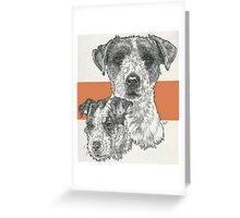 Jack Russell Terrier, rough coat, Father & Son Greeting Card