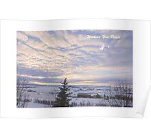 Wishing u Peace Christmas Card 2 Poster