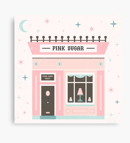 Pink Sugar Bakery  Canvas Print