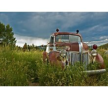 Gold Hill Fire Truck Photographic Print