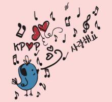LOVE  KPOP BLUE BIRD Kids Tee
