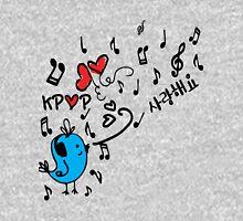 LOVE  KPOP BLUE BIRD Women's Fitted Scoop T-Shirt