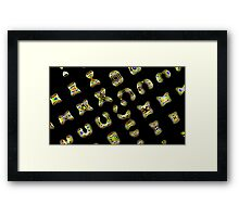 Ancient language Framed Print