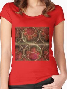 Never ending, fractal abstract art with circles Women's Fitted Scoop T-Shirt