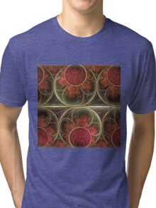 Never ending, fractal abstract art with circles Tri-blend T-Shirt