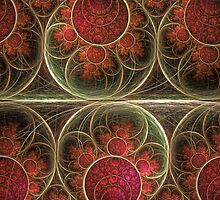 Never ending, fractal abstract art with circles by walstraasart