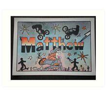 Matthew personalise pic Art Print
