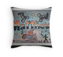 Matthew personalise pic Throw Pillow