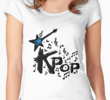 KPOP Women's Fitted Scoop T-Shirt