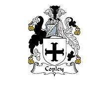 Coat of arms (family crest) for last-name or surname Copley . Heraldry banner for your name. Photographic Print