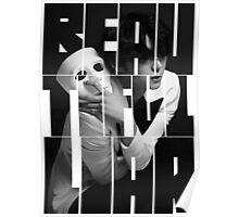 VIXX LR Leo 'Beautiful Liar' Typography Poster