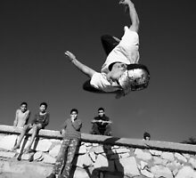 Essaouira free styling - Moroccan teenager guy jumping at the beach by Matej Kastelic