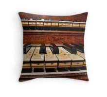 Keyboards Throw Pillow
