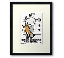 Lucky Rabbits Foot. Framed Print