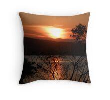 Sunset on Lake Macquarie Throw Pillow