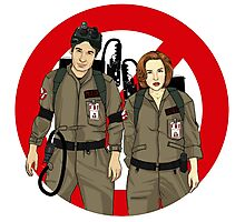 Ghostbusters Files - Mulder & Scully Photographic Print