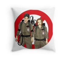 Ghostbusters Files - Mulder & Scully Throw Pillow