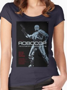Robocop - Movie Poster Women's Fitted Scoop T-Shirt
