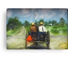 Amish Boys Canvas Print