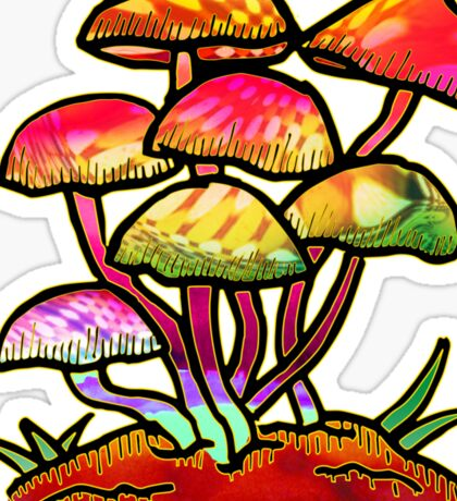 Cluster of Shrooms  Sticker