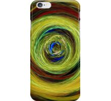 Abstract Peacock Swirl iPhone Case/Skin