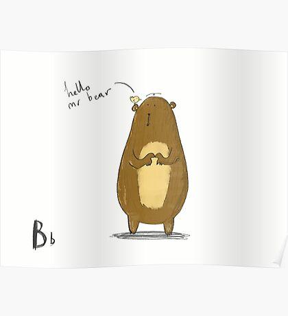 """Hello Mr Bear"" Poster"