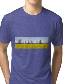 blooming field of rapeseed Tri-blend T-Shirt
