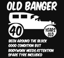 40th Forty Mens Age 40 Birthday Funny Baby Tee