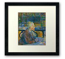 Toulouse Lautrec - Portrait of Vincent Van Gogh Framed Print