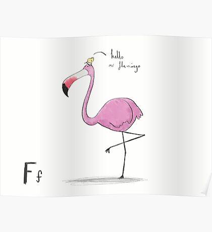 """Hello Mr Flamingo"" Poster"