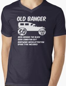 50th Fifty Mens Funny Age 50 Birthday Mens V-Neck T-Shirt